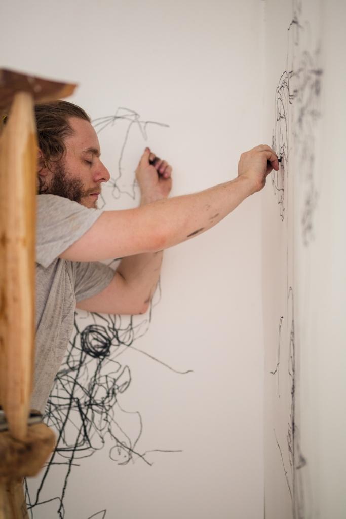 Ladder Drawing by Robbie Karmel